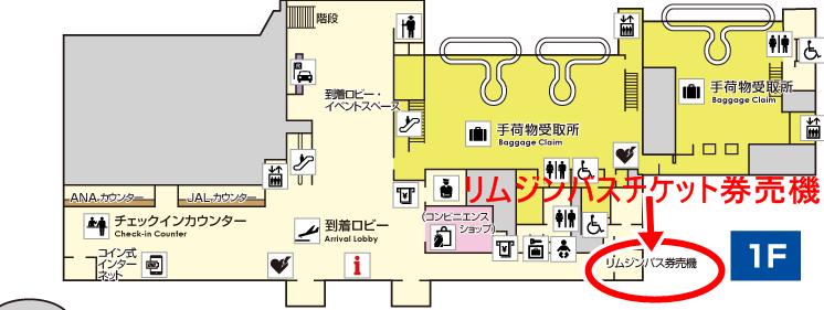 徳島空港リムジンバスチケット券売機