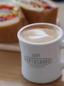 ノースショア徳島のカフェラテ